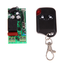Wireless Remote Control Light Switch 10A Relay Output Radio DC 12V wuth Two-button Remote Control 315MHz 433MH