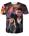 Femme camisetas 3d Hogwarts de Harry Potter e seus amigos T-Shirt os muggles camiseta galáxia magia fantasia tees tops para as mulheres homens