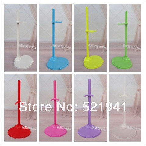 Free transport,20pcs/lot scorching promoting Doll Stand Show Holder For Barbie Dolls