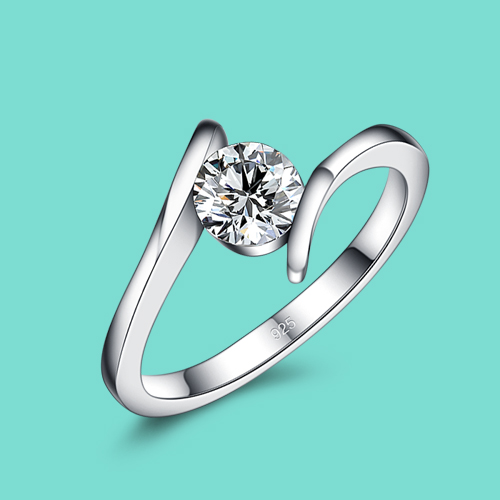 Simple Style 925 Sterling Silver Rings Women S Zircon Rings Romantic Engagement Rings Solid Silver Jewelery Lady Popular Bijoux Silver Jewelery Engagement Ring925 Sterling Silver Ring Aliexpress