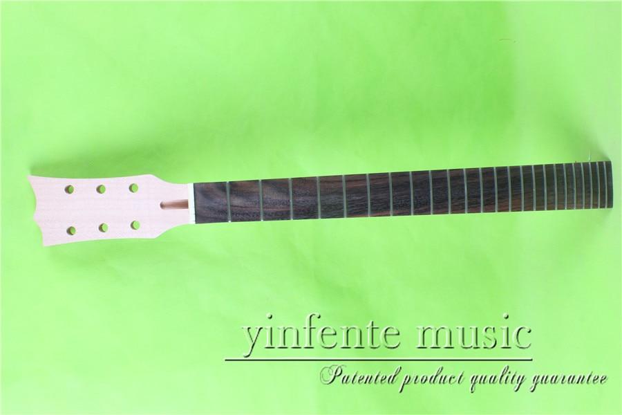 L -00148 #  unfinished   24.75 Electric guitar neck fine quality  rosewood   fingerboard l