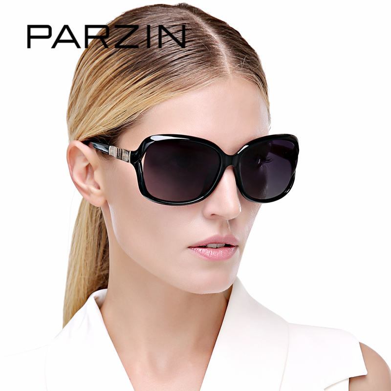 PARZIN Brand Fashion 2018 Sunglasses Women Big Frame Polarized Sunglasses Elegant Luxury Brand Designer Eyewear With Case 9502