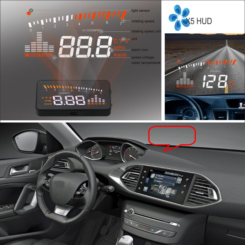 Liislee HUD Head Up Display For Audi A6 S6 RS6 C6 C7 - Refkecting Windshield Screen Safe Driving Screen Car Projector radiator cooling fan relay control module for audi a6 c6 s6 4f0959501g 4f0959501c