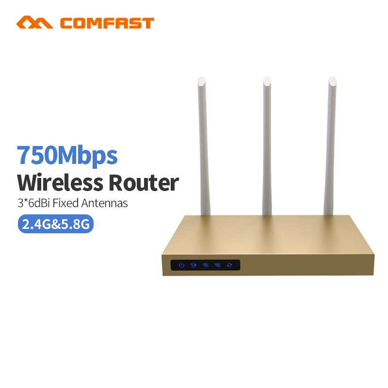 COMFAST CF-WR630AC 750Mbps 2.4G + 5.8G wireless wifi router 3*6dBI antennas signal booster 802.11ac wi-fi amplifier router comfast wireless outdoor router 5 8g 300mbps wifi signal booster amplifier network bridge antenna wi fi access point cf e312a