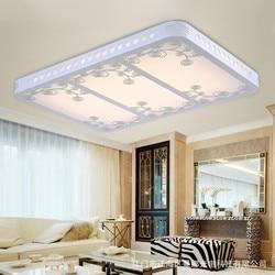 Współczesna i zakontraktowane led salon światła prostokątne drewniane światło kopuły słodkie sypialni lampa studyjna ściemniania oświetlenia Oświetlenie sufitowe    -