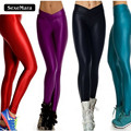 New Arrival Candy Color Legging V Style High Waist Women Fashion Push Up Legins Pants Elastic Workout Fitness Leggings Plus Size