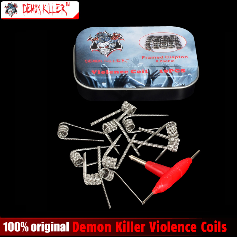 Demone Killer Violenza Bobina Bobina Prebuilt Clapton Alien V2 Bobina Distanziati Clapton Tsuka Bobina per E Cig RDA & RBA Atomizzatore o serbatoio