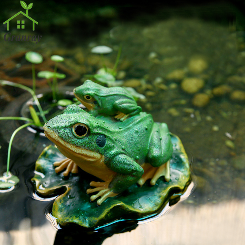 creative resin crafts garden animals floating water frog ornaments outdoor garden decorations 1 piece free shipping in figurines miniatures from home - Garden Animals