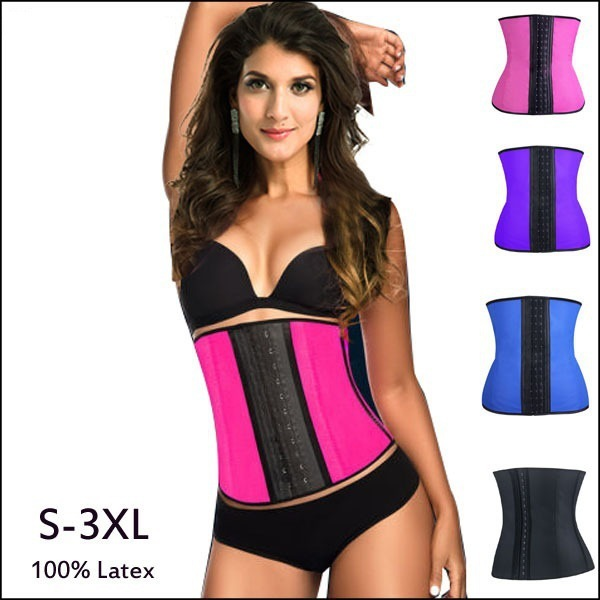 10pcs Lady Latex corset body shaper Waist Trainer Corset 100% Latex Corset Sexy Women Latex Waist Cincher Shapewear