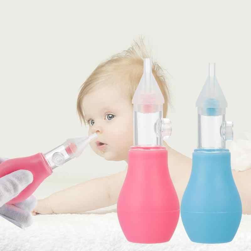 Детский силиконовый носовой аспиратор для малышей, очиститель носа для младенцев, паровой насос с присоской