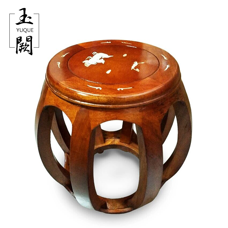 Tabouret Guzheng Calophyllum/petite assise