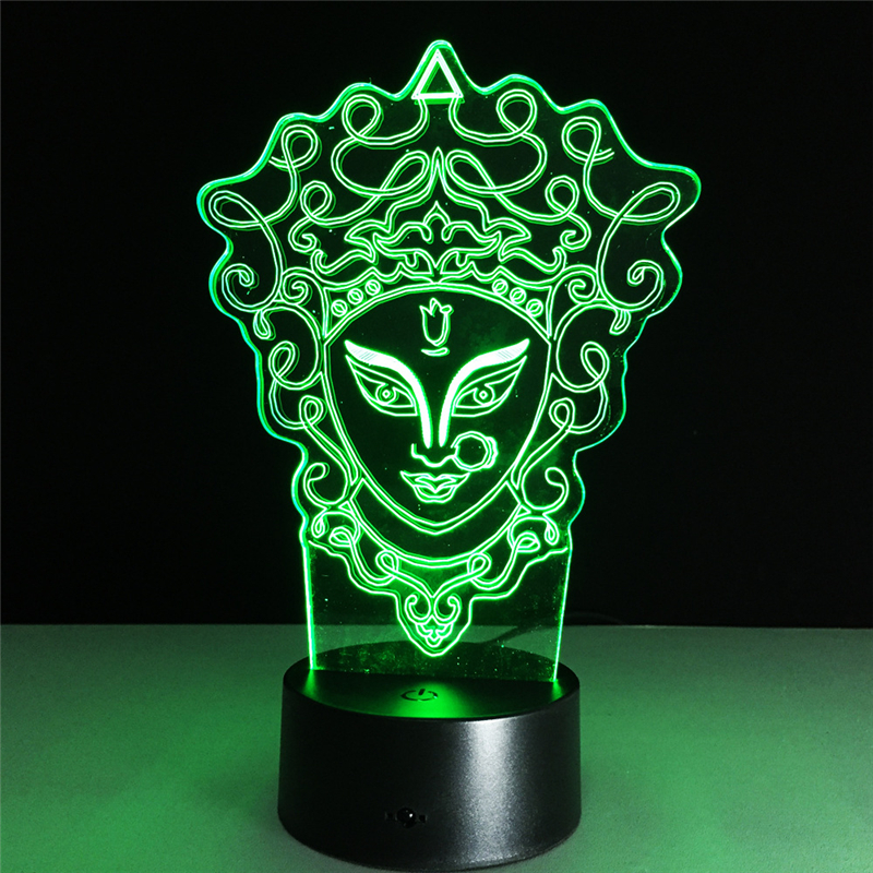 Tobyfancy Beijing Opera Facial Masks Figure 3D Led Table Lamp Flash 7 Color Effect Acryl ...