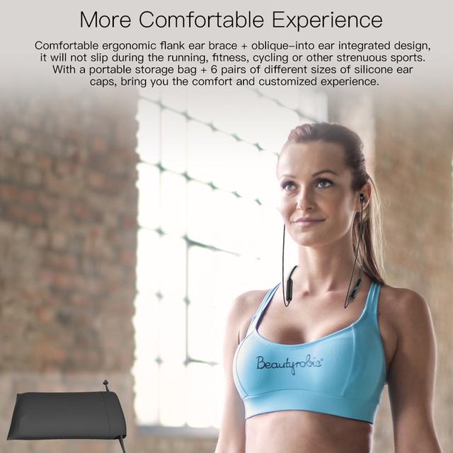 Tiso S8 Bluetooth headphone wireless earphone neckband MP3 music game video headset IP67 waterproof sport microphone earbuds