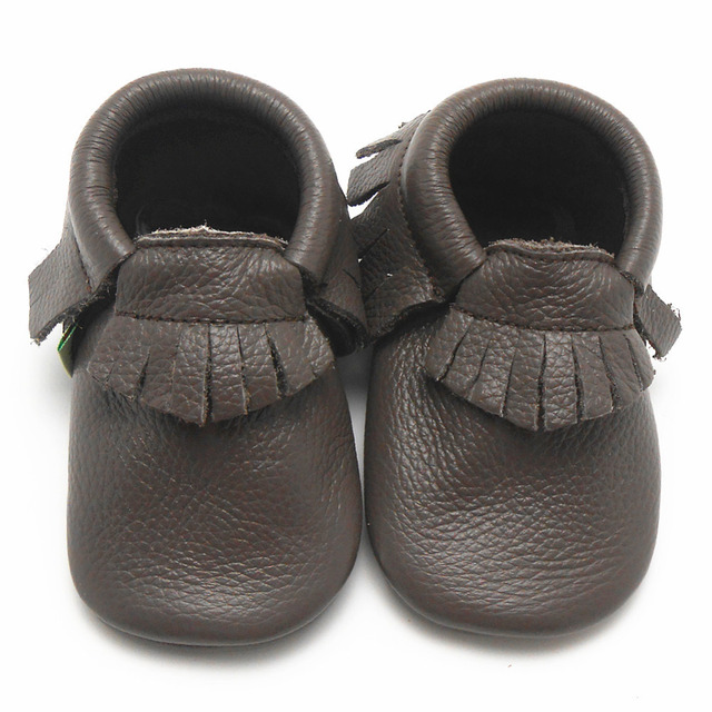 fd50e119c71bf US $8.99 |Sayoyo Dark Grey Genuine Leather Baby Moccasins Fringe Soft Soled  Baby Boy Shoes Girls Newborn Infant First Walker Free Shipping-in First ...