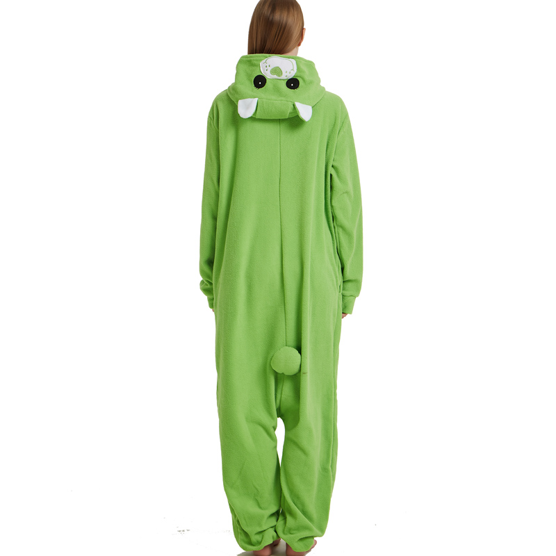 Green Four-leaf Clover Lucky Care Bear Cosplay Pajamas Adult Women Men Unisex Onesie One Piece Hooded Romper Party Costumes (2)