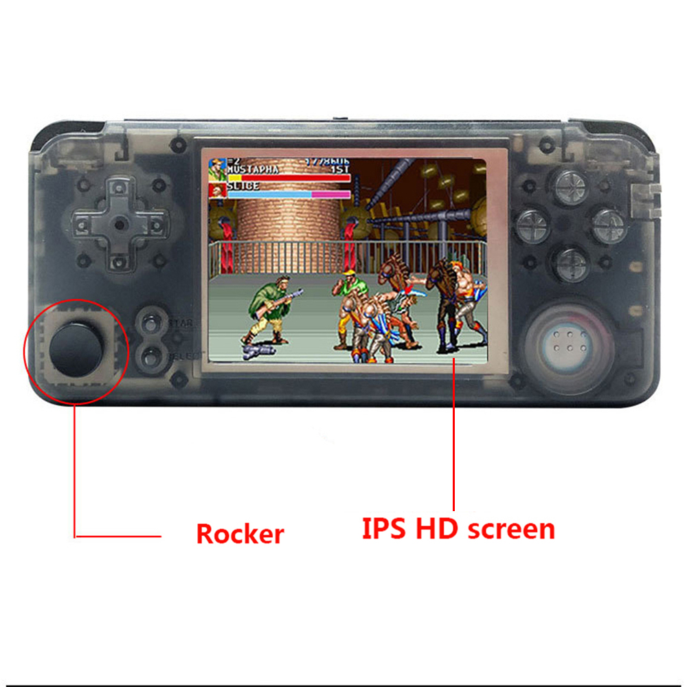Retro Handheld Game Console with Rocker 16GB 3.0 Inch IPS HD Screen 3000 Video Games Player Mini Video Gaming Player