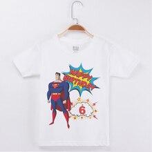 New Arrival Boy Brand Tshirt Birthday Present t-Shirts Cotton Boys Short T Shirts Superman Printing Top Clothing Child Tees Tops