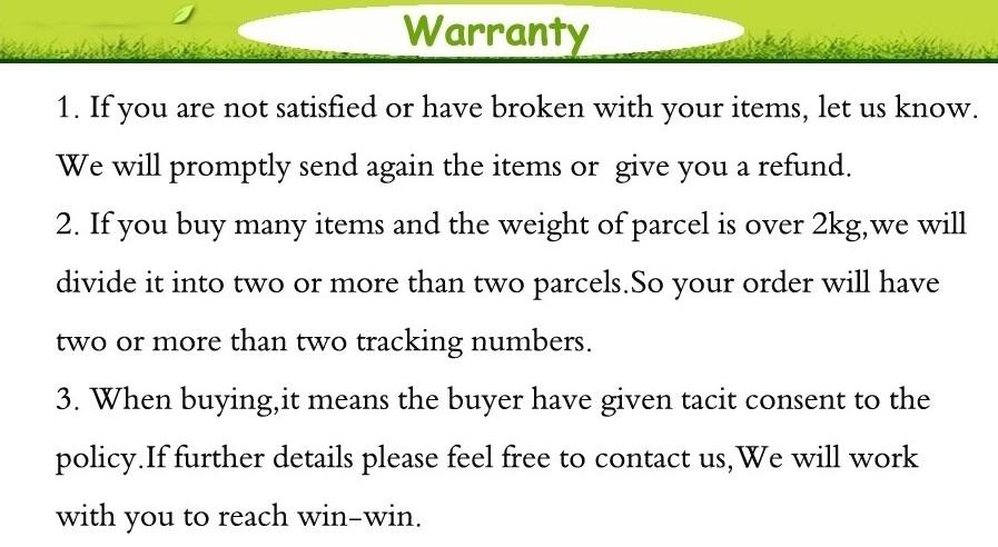 1 Warranty
