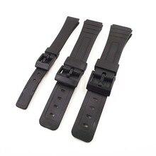 1 шт. 14 мм 18 мм 20 мм черный цвет смолы ремешок для часов Ремешки для мужчин и женщин Ремешки для наручных часов для casio полос-0145RWS