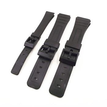 994dca5ac2f6 1 unids Ud. 14 MM 18mm 20mm color negro resina reloj Correa hombre y mujer  reloj de pulsera correas para bandas casio-0145RWS