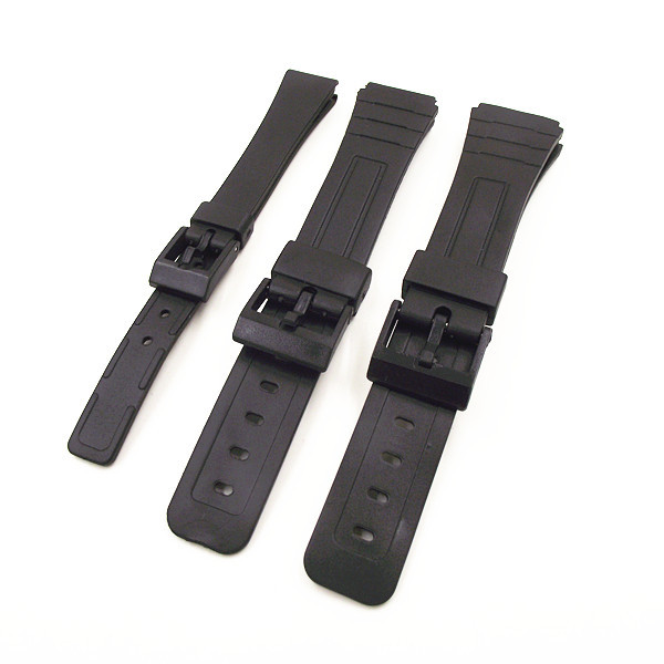 1PCS 14mm 18mm 20mm black color resin watch band watch straps man and woman wris