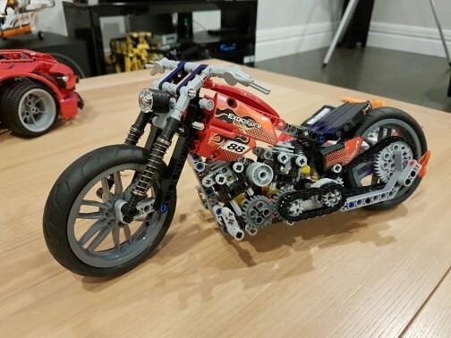 HOT 378Pcs Technic Motorcycle Exploiture Model Harley Vehicle Building Bricks Block Set Toy Gift Compatible With Legoe 2