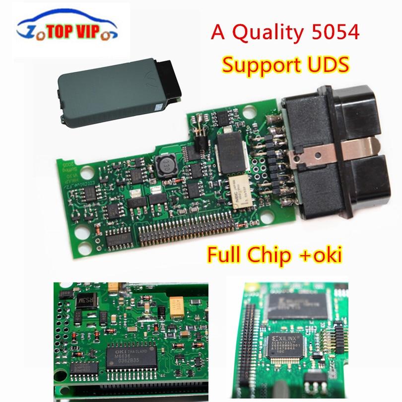 Бесплатная доставка DHL! + VAS 5054a полный чип Высокое качество Bluetooth + OKI чип Поддержка UDS ODIS 4.0.0 Авто Diagnotic-инструмент сканер