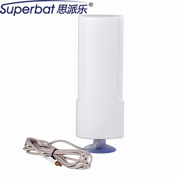 Superbat с Высоким Коэффициентом Усиления 698-960/1710-2690 МГЦ 25dBi 4 Г Антенна Антенна CRC9 для HUAWEI Маршрутизатор ZTE USB Modem Booster 207x70x30 мм Присоски