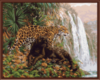 Leopard Landscape Frameless Picture Painting By Numbers Wall Art DIY Canvas Oil Painitng Home Decor Living