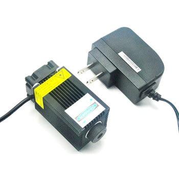 3350 Focusable 405nm 200mw Purple - Violet Blue Dot Laser Diode Module w Cooling Fan & 12V Adapter