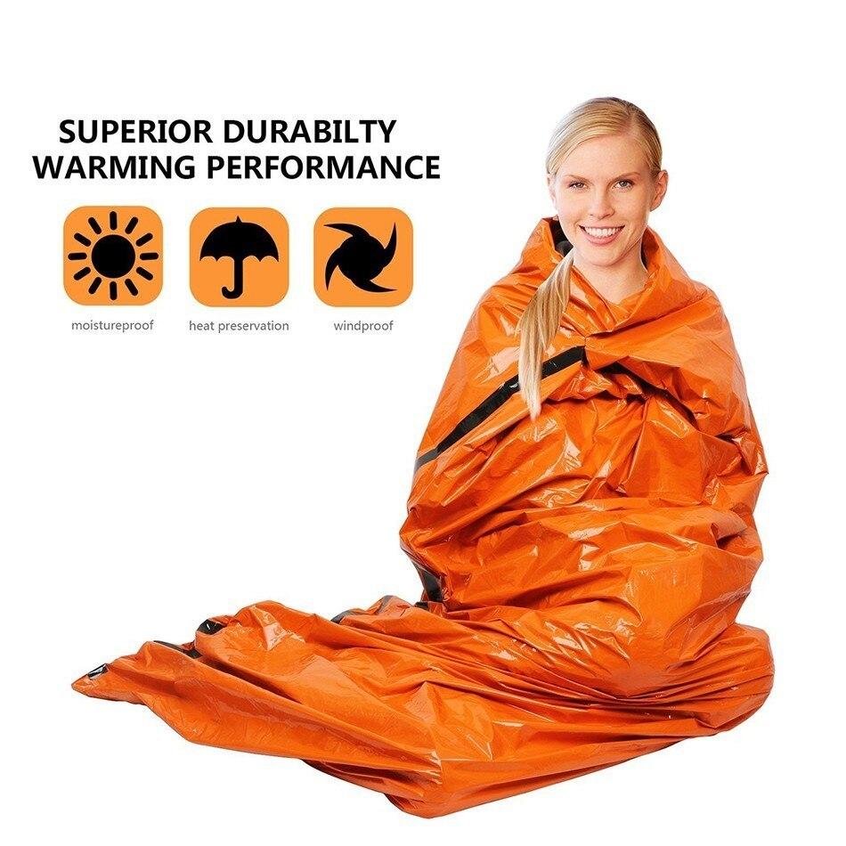 Lohnende Notfall Decke Schlafsack Outdoor Camping Wandern Wasserdichte Sunproof Rettungs Shelter Faltbare Überleben Ausrüstung