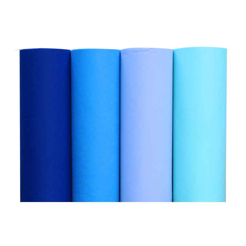 Non-woven Blue Aisle Runners Wedding Accessories Long Repeat Display Ceremony Walk Down Pure Color Blue Aisle Runner