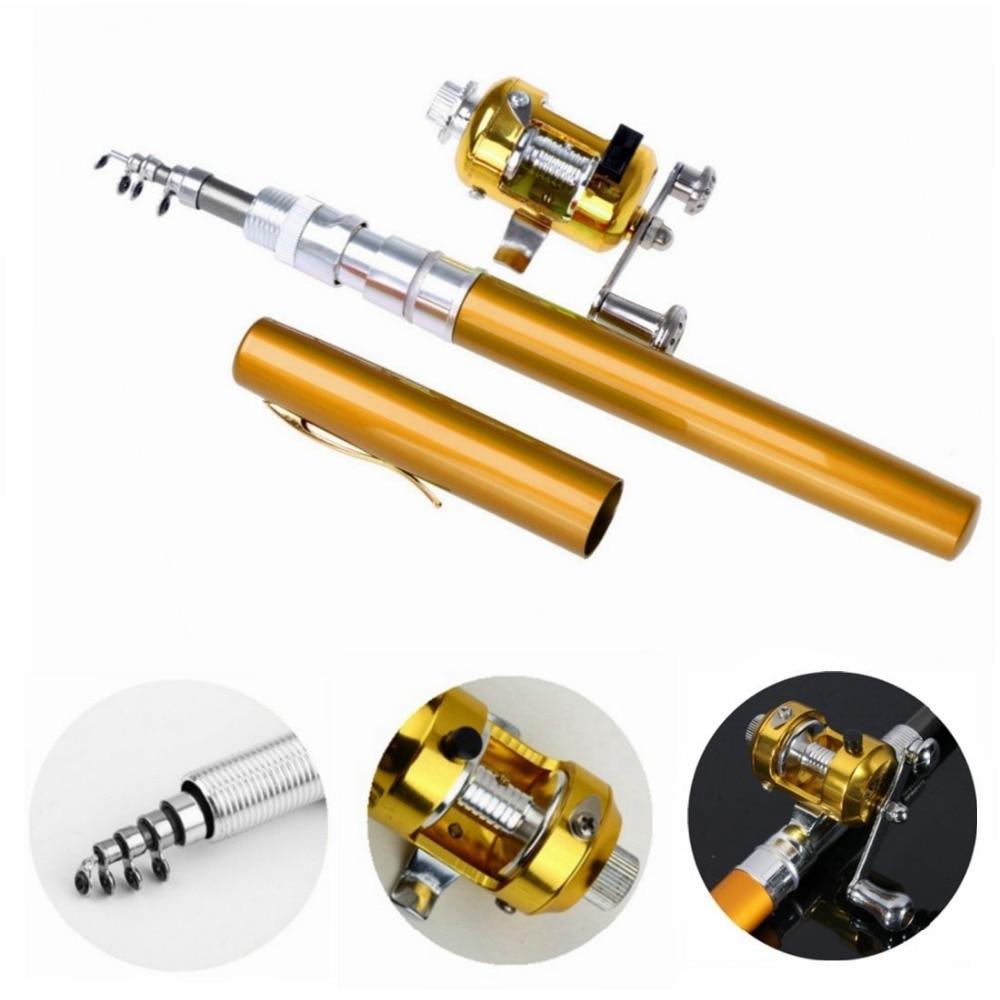 Portable Aluminum Alloy Telescopic Pen Fishing Rod