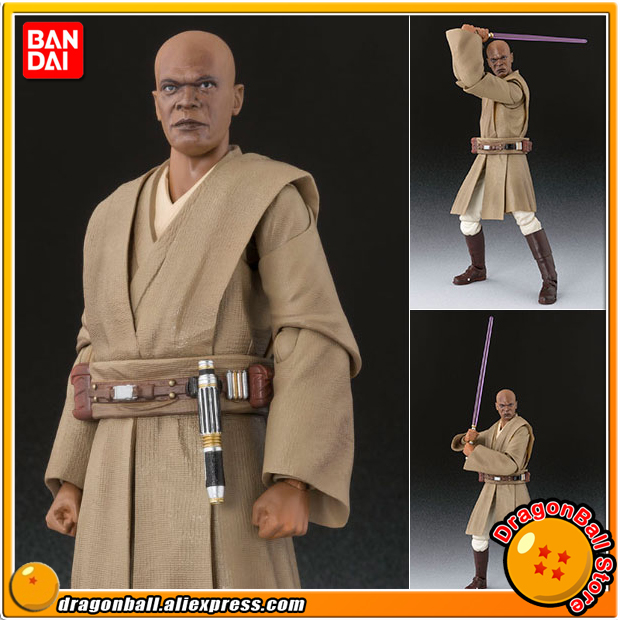 Star Wars Episode II: Attack of the Clones Original BANDAI Tamashii Nations S.H.Figuarts / SHF Toy Action Figure - Mace Windu