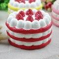 10 unids Nueva Marca Lento Aumento Rainbow Strawberry Cake Encanto Blando Jumbo Juguetes Squeeze Perfumadas Squishies Venta Al Por Mayor