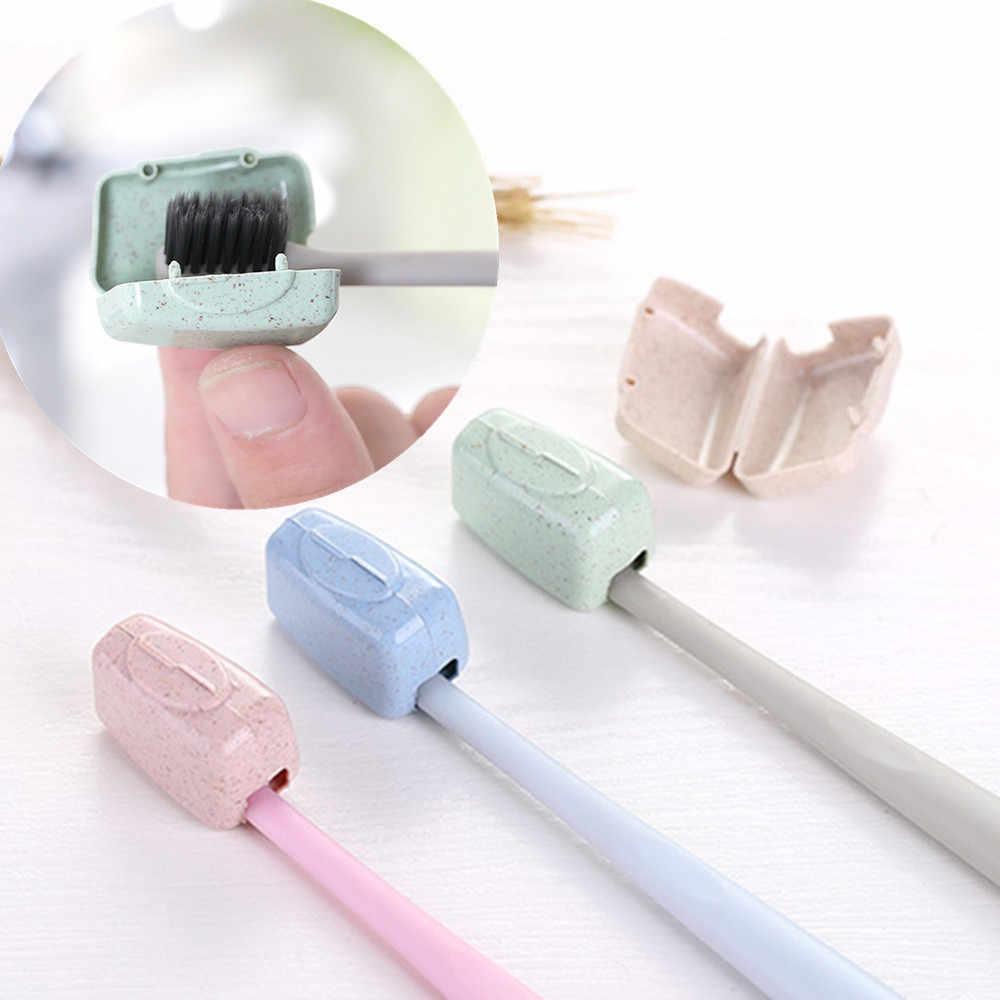 4 PCS סט נייד נסיעות מברשת שיניים כיסוי לשטוף מברשת שווי תיק תיבת נסיעות מוצרי אמבטיה 3.2cm * 2 סנטימטר * 1.8cm אקראי #10