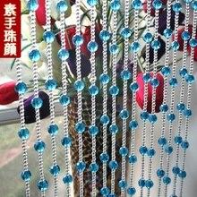32 секции хрустальных стеклянных бусин 5 м длина крыльца перегородки двери занавески с износными бусинами хрустальные занавески