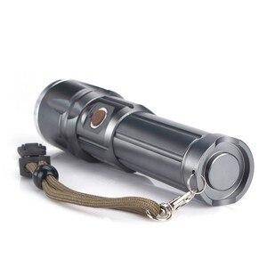 Image 3 - Фонарик AloneFire X900 CREE XM L2 T6, алюминиевый уличный светодиодный фонарик с зумом, перезаряжаемый аккумулятор для 26650 или 18650