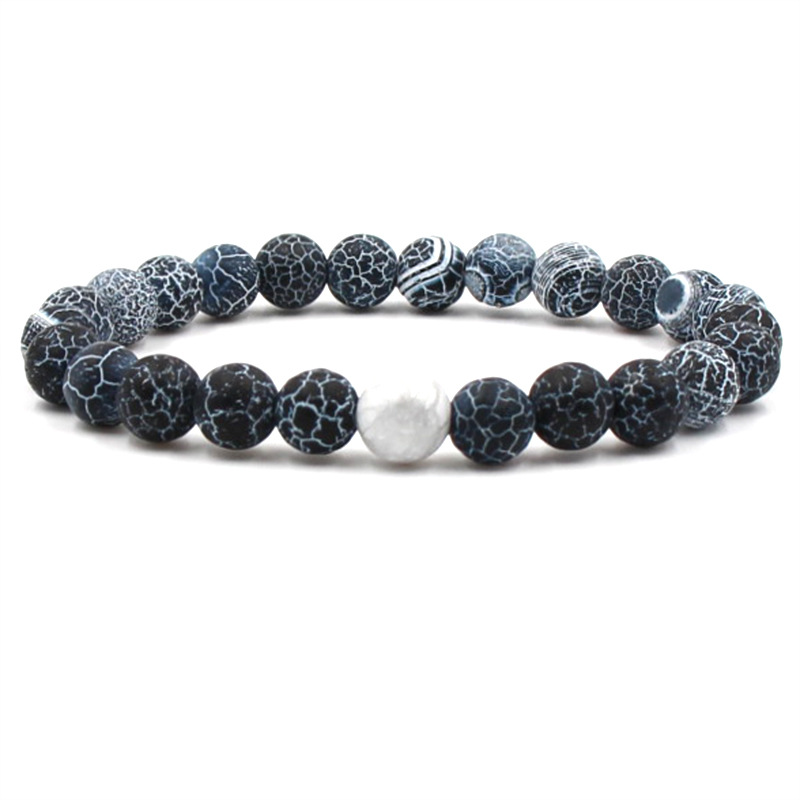 Boho Bracelet Black White Natural Lava Stones Beads Beaded Bangles Bracelets For Women Men Jewelry Best Selling 2019 Products in Charm Bracelets from Jewelry Accessories