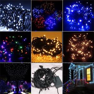 Image 5 - 10 メートル 80 の Led クリスマスストリングライトブラックワイヤー妖精ストリングライト屋外ガーランドウェディングパーティーホリデーのための