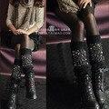 Estilo de europa de la Joyería bling de alta calidad calentadores de la pierna de lana al por mayor de la muchacha/mujeres de la manera calcetines de arranque de la cubierta