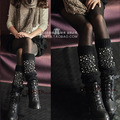 europe style Jewelry bling high quality leg warmers wholesale wool girl/women fashion boot cover socks