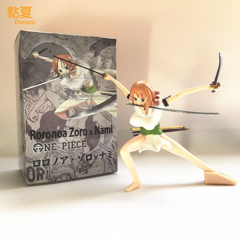 DIANXIA 1PCS New Arrival Anime One Piece Nami Zoro Version Three knives Swords Action Figure Toy PVC High About 15cm With Box hot one piece figure nami bb ver pvc action figure 14cm nami swimsuit sexy collectible model toy figurine one piece doll wx148