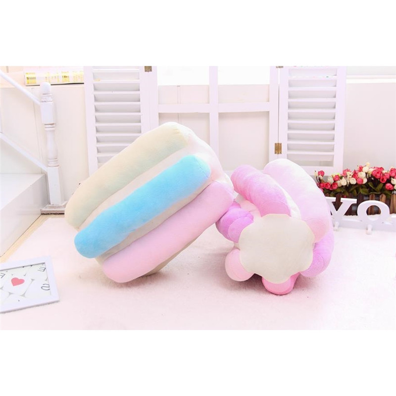 RUBIHOME 3D Design Emulation Cotton candy Decorative Cushions Throw Pillows for Sofa Home Decor Shop Hotel Used birthday present