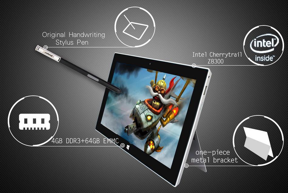 Jumper EZpad 5SE tablet PC 10.6\'\' Windows 10 IPS 1920 x1080 Intel Cherry Trail Z8300 4GB 64GB HDMI BT WiFi windows tablet laptop (5)