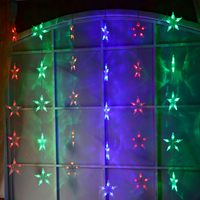 Fairy lights LED Star curtain lights garland chrismas lights decoration party wedding decorative lamp holiday lighting