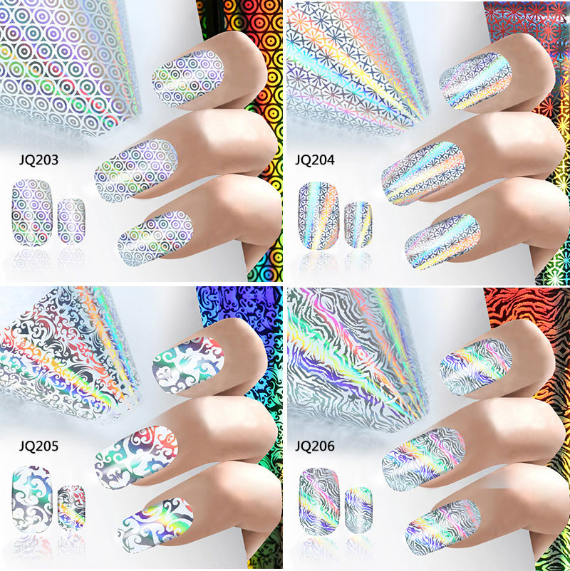 100*4CM Holographic Starry Sky Nail Foils 2017 New Nails Art Transfer Sticker Decals Manicure Diy Nail Tips Decorations holographic nail foils all kinds snowflakes pattern diy nail art transfer decals manicure tools gl615