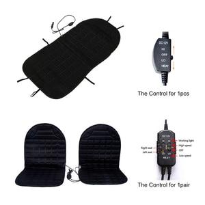 Image 5 - Car seat electric heating pad 12V Heated Car Seat Cushion Winter Auto Cushion Seat Cover Heated Seat Cushion