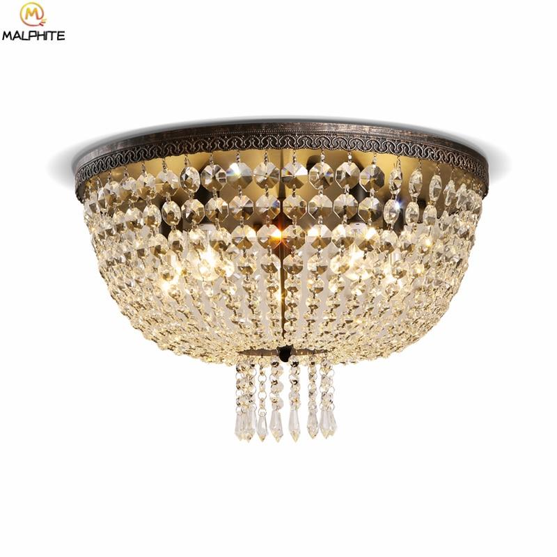 Американские ретро Хрустальные потолочные светильники блеск современные подвесные потолочные светильники промышленный декор Освещение д