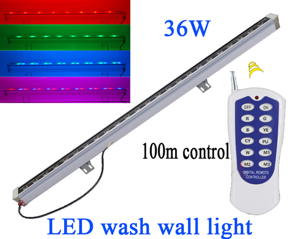 Outdoor Led Tube Lampe Supplement Die Vitalenergie Und NäHren Yin 36 Watt Linear Bar Led Flutlicht 85-265 V Wasserdicht Ip65 Fernbedienung Led Wall Washer